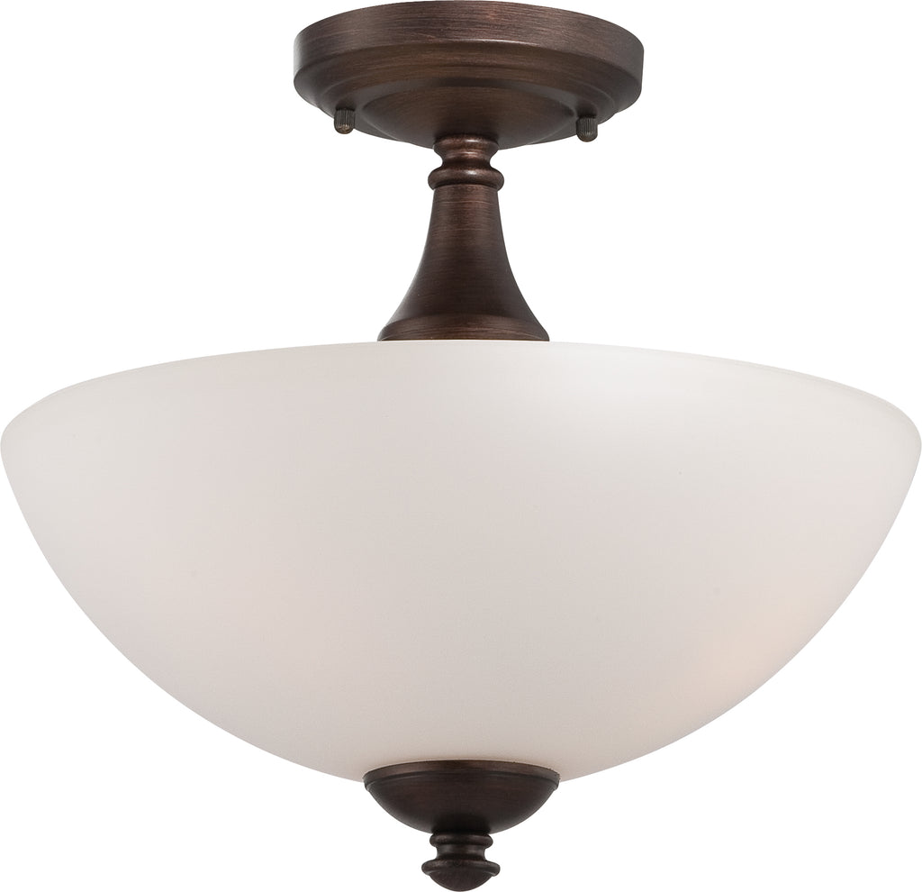 Patton - 3 Light Semi Flush w/ Frosted Glass