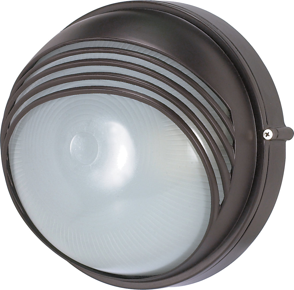 "1 Light - 10"" - Round Hood Bulk Head - Die Cast Bulk Head"