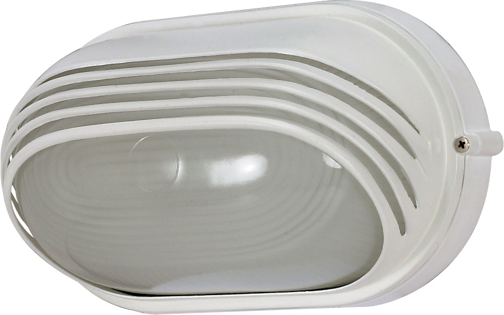 "1 Light - 10"" - Oval Hood Bulk Head - Die Cast Bulk Head"