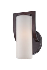 Daytona - 1 Light Vanity Fixture w/ Satin White Glass