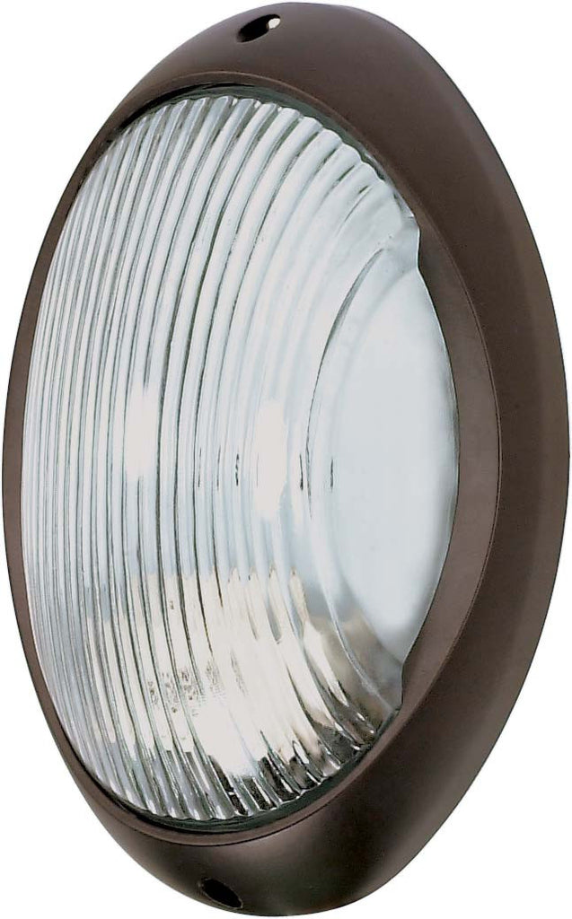 "Nuvo 1-Light 11"" Large Oval Die Cast Bulkhead w/ Architiectural Bronze Finish"