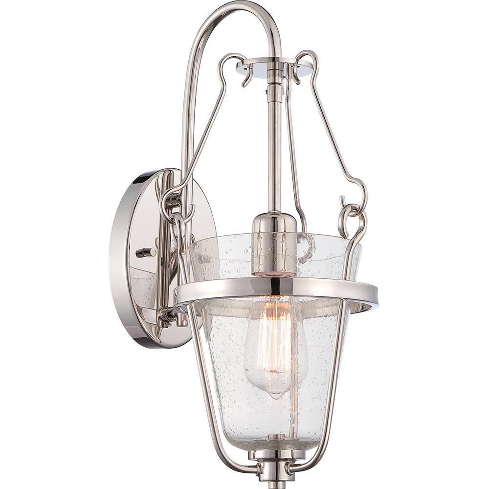 Latham - 1 Light Wall Fixture w/ Clear Seeded Glass- Lamp Included