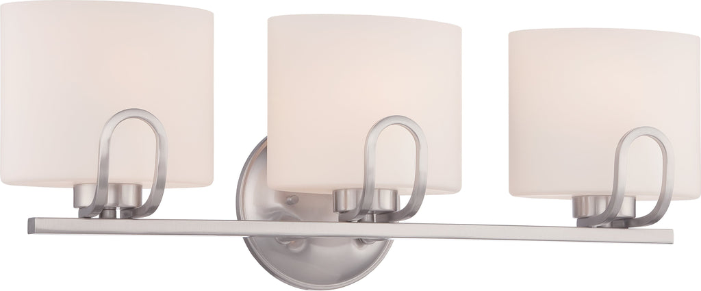 Lola - 3 Light Vanity Fixture w/ Etched Opal Glass