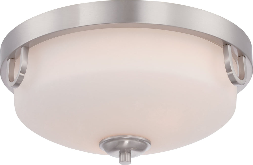 Lola - 2 Light Flush Fixture w/ Etched Opal Glass
