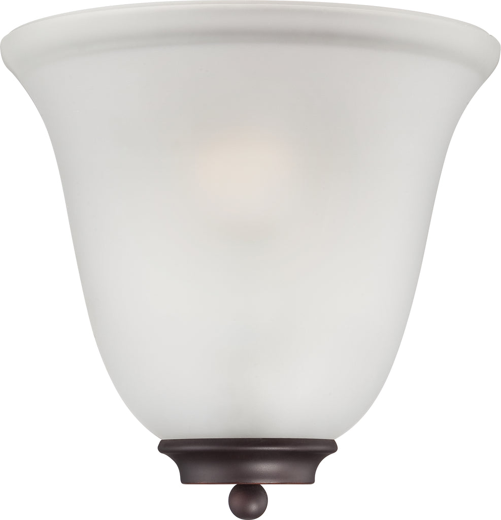 Empire - 1 Light Wall Sconce - Mahogany Bronze w/ Frosted Glass
