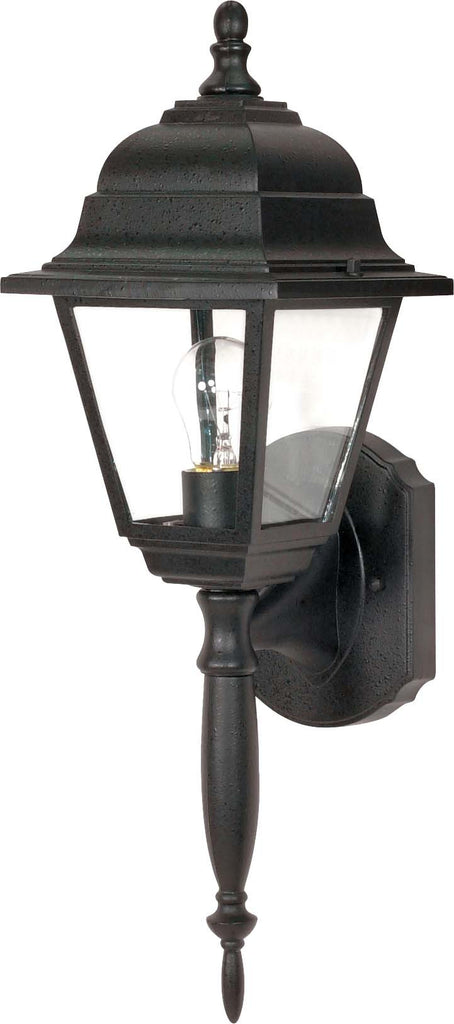 Nuvo Briton - 1 Light - 18 inch - Wall Lantern - w/ Clear Seed Glass