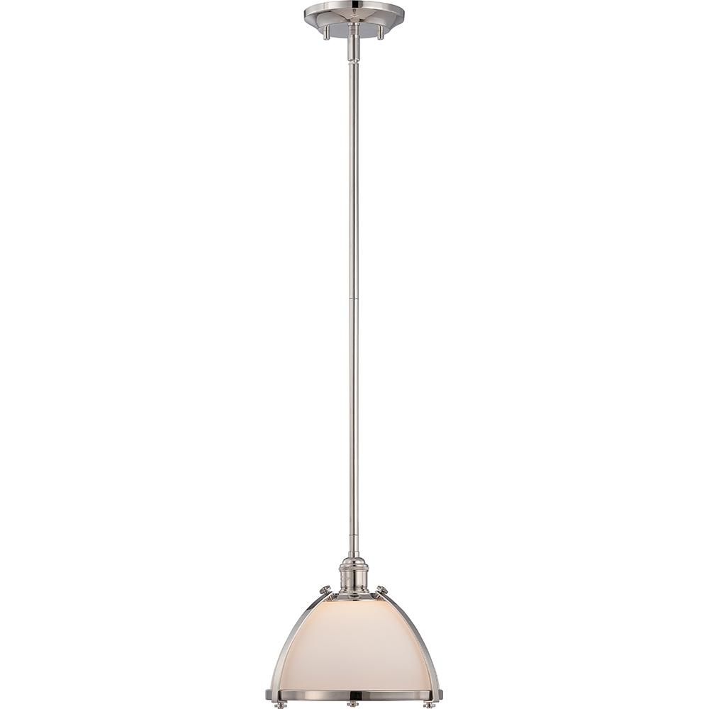 Sagamore - 1 Light Mini Pendant w/ Etched Opal Glass