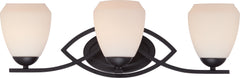 Bali - 3 Light Vanity Fixture w/ Etched Opal Glass