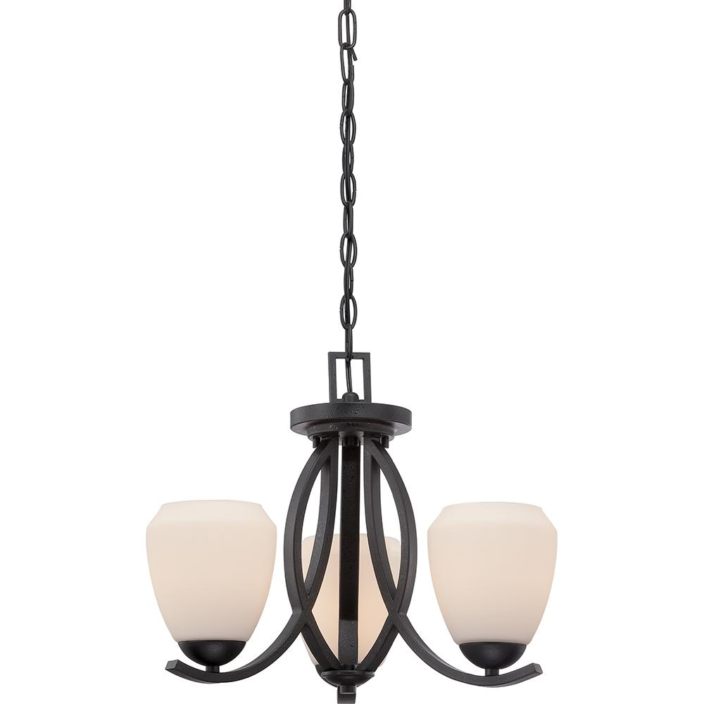 Bali - 2 Light Semi Flush w/ Etched Opal Glass