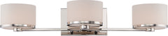 Celine - 3 Light Vanity Fixture w/ Etched Opal Glass