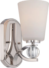 Connie - 1 Light Vanity Fixture w/ Satin White Glass