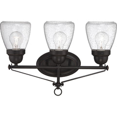 Laurel - 3 Light Vanity Fixture w/ Clear Seeded Glass