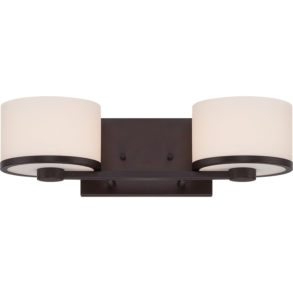 Celine 2 light vanity fixture w etched opal glass for Miroir 50in projector specs
