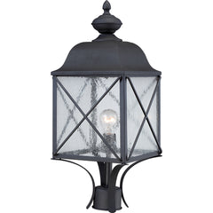 Wingate 1 LT Outdoor Post Fixture w/ Clear Seed Glass