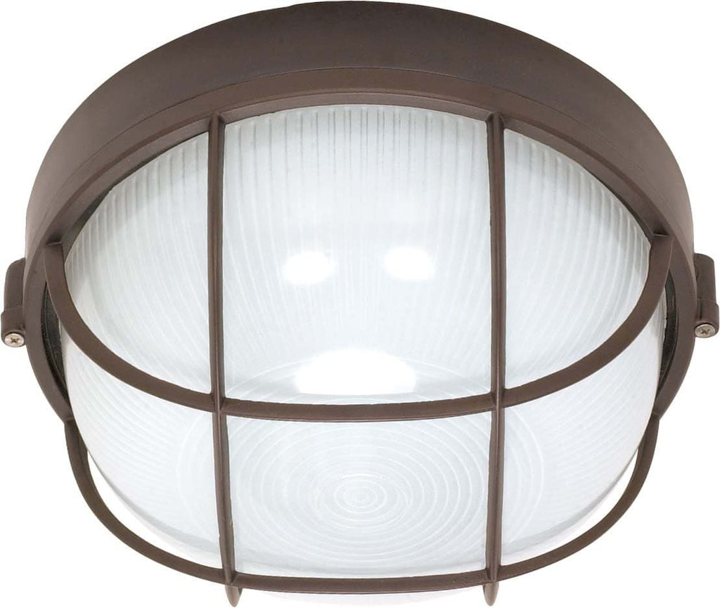 Nuvo 1 Light Cfl - 10 inch - Round Cage Bulk Head - (1) 18W GU24 Lamp Included