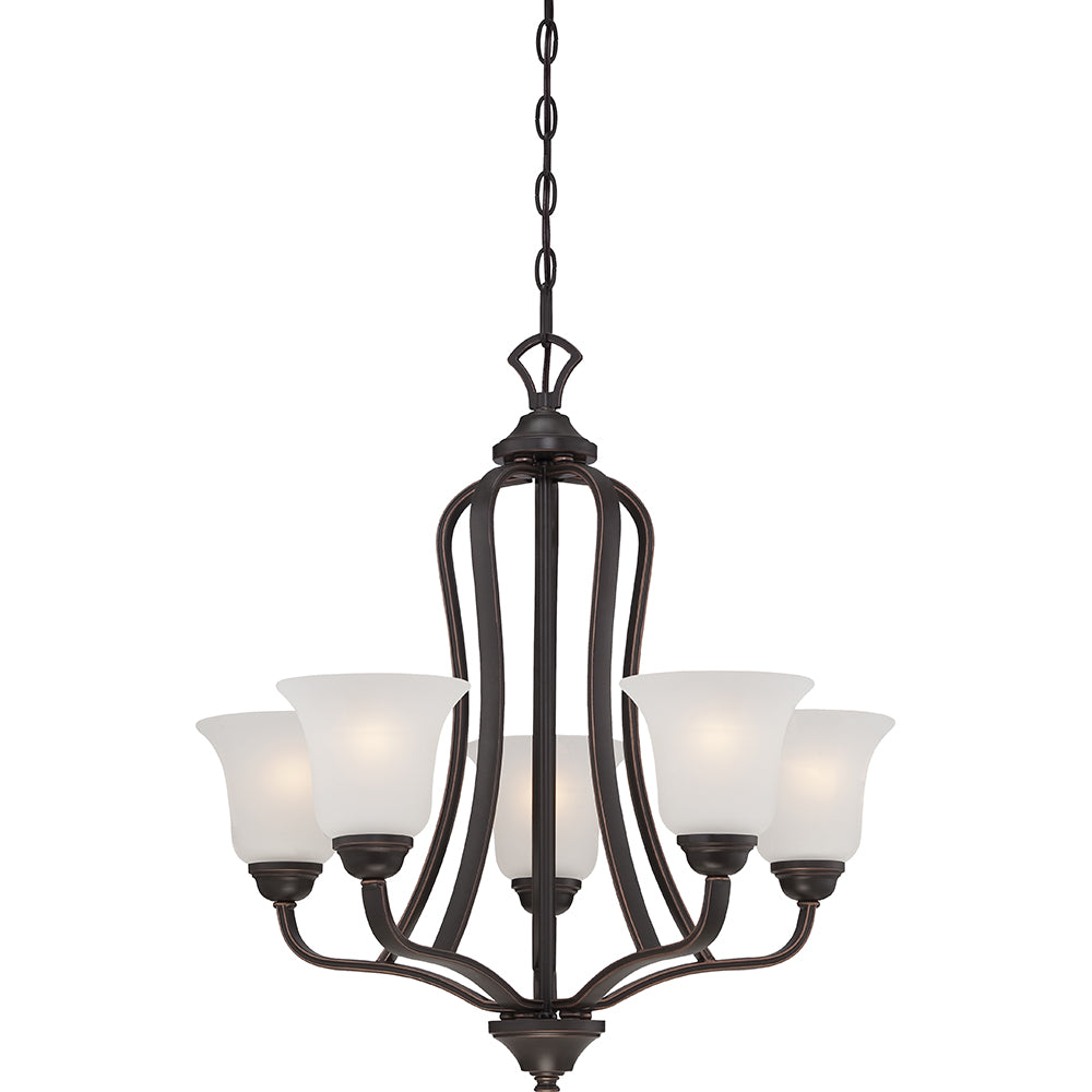 Elizabeth - 5 Light Chandelier w/ Frosted Glass