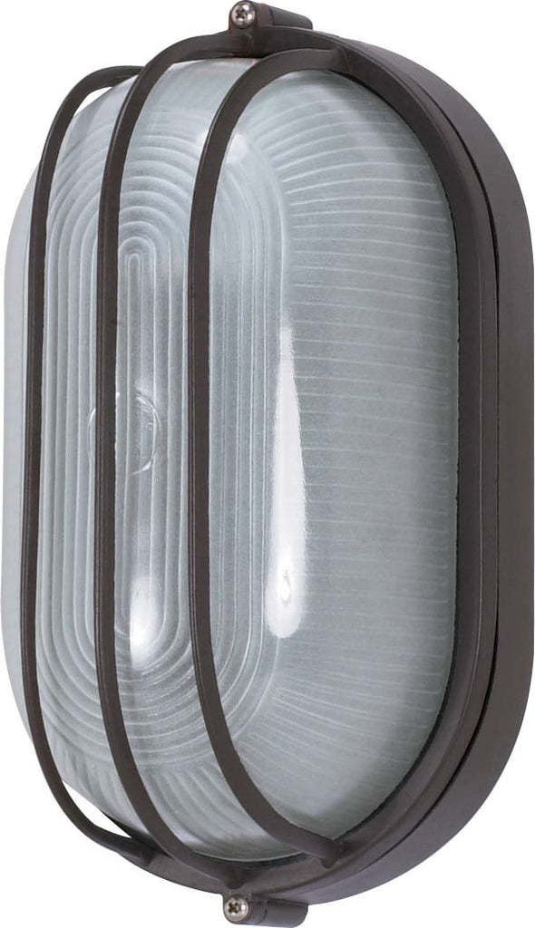 Nuvo 1 Light Cfl - 10 inch - Oval Cage Bulk Head - (1) 13W GU24 Lamp Included