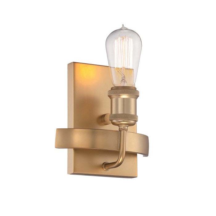Nuvo Lighting Natural Brass Paxton 1 Light Wall Sconce