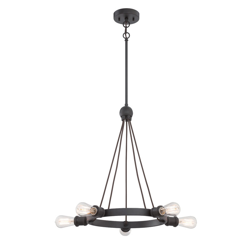 Nuvo Lighting Aged Bronze Paxton 5 Light Chandelier - 27.75 Inches Wide