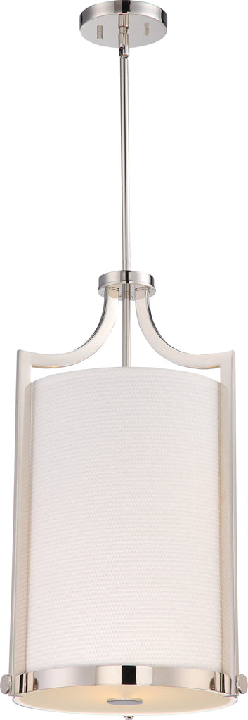 Meadow 3-Light Pendants Mounted Pendant Light Fixture in Polished Nickel Finish