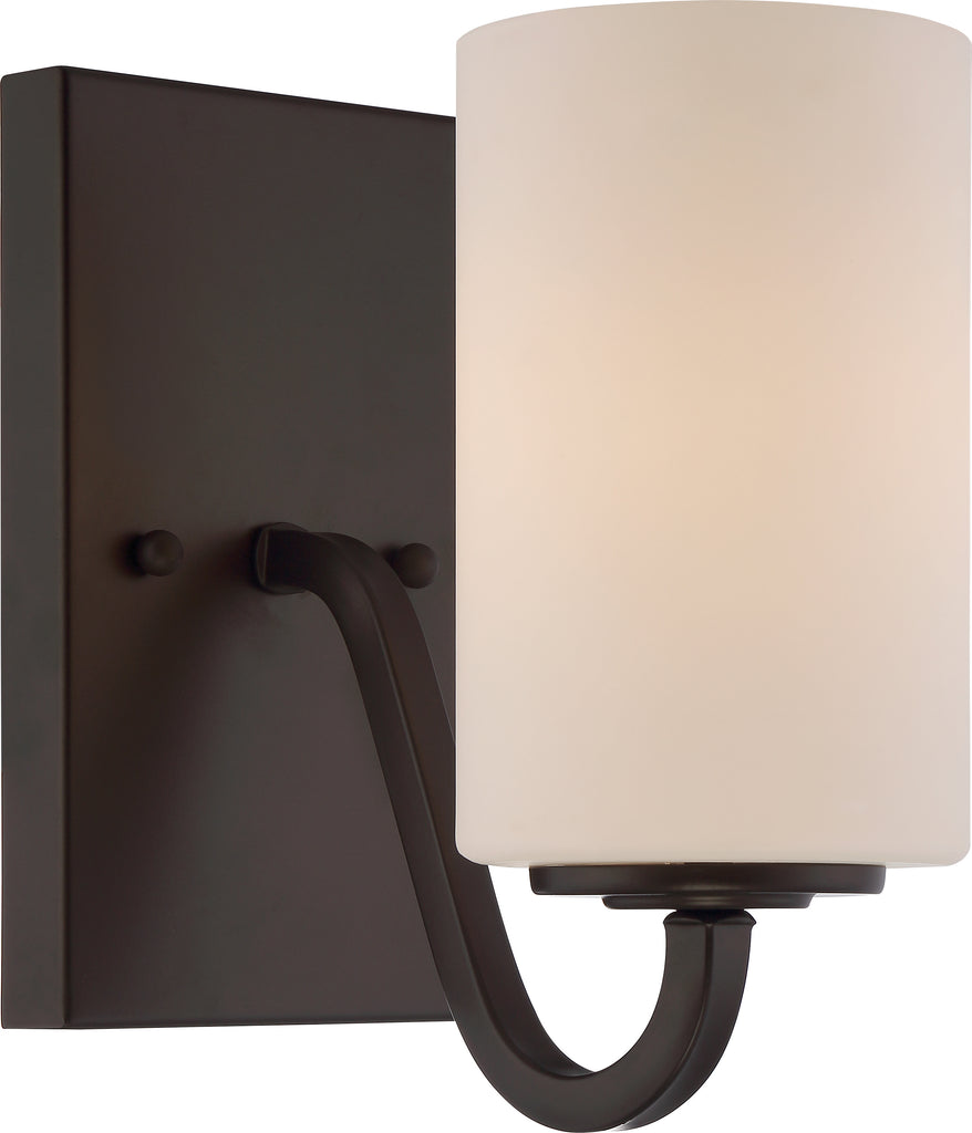 Willow 1-Light Wall Mounted Vanity & Wall Light Fixture in Forest Bronze Finish
