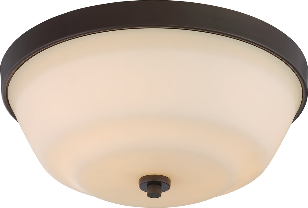 Willow 2-Light Flush Mounted Light Fixture in Forest Bronze Finish