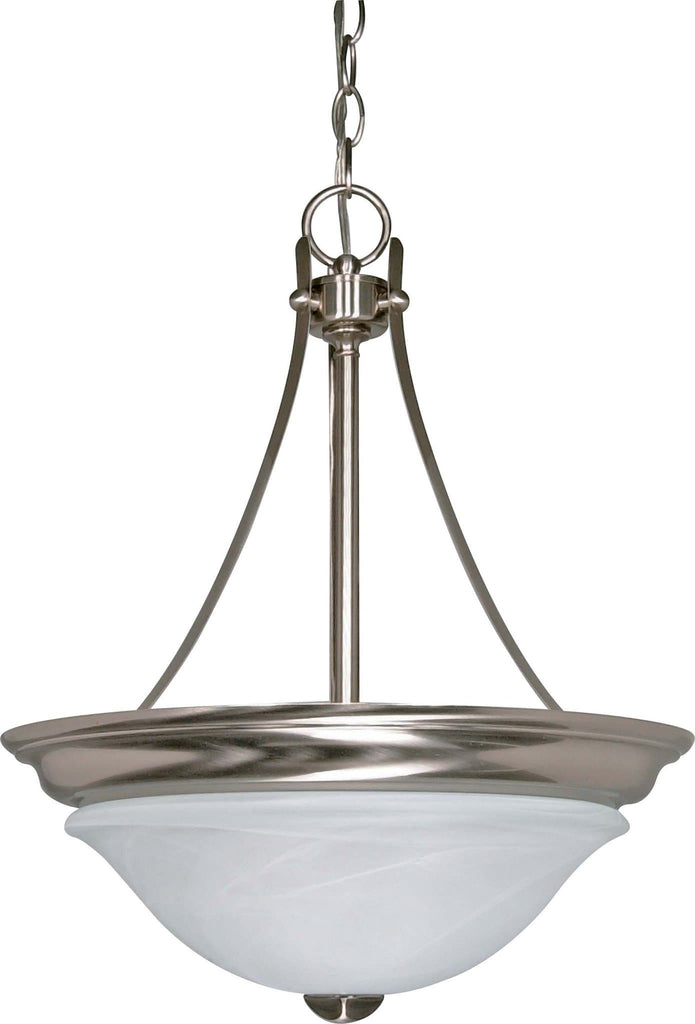 Nuvo Triumph - 2 Light - 16 inch - Pendant (Convertible) - w/ Sculptured Glass Shades