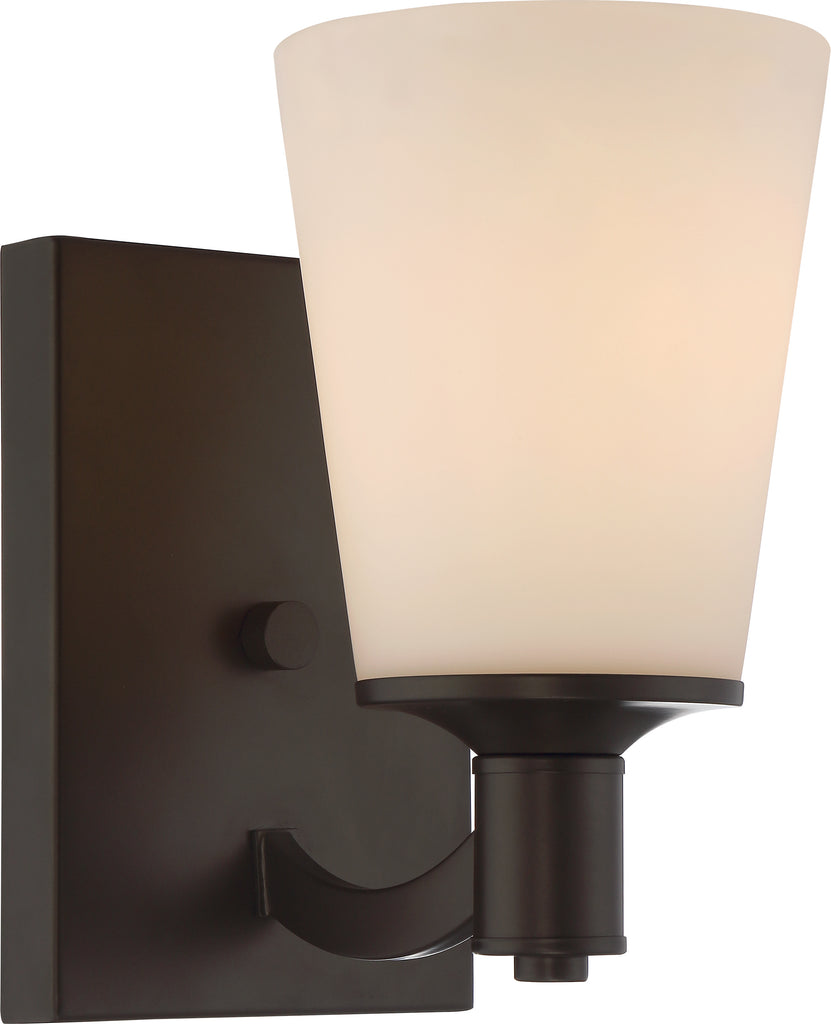 Laguna 1-Light Wall Mounted Vanity & Wall Light Fixture in Forest Bronze Finish