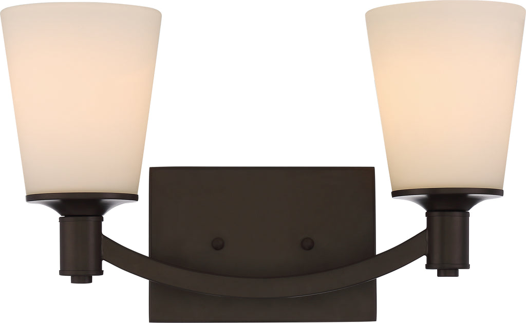 Laguna 2-Light Wall Mounted Vanity & Wall Light Fixture in Forest Bronze Finish
