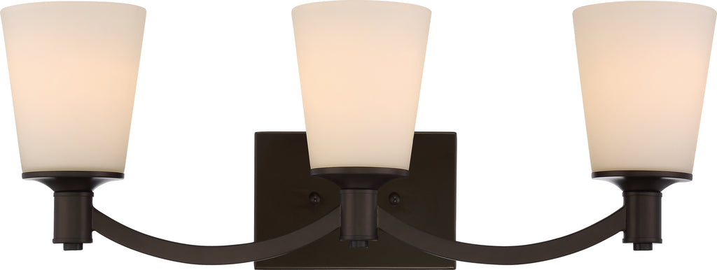 Laguna 3-Light Wall Mounted Vanity & Wall Light Fixture in Forest Bronze Finish