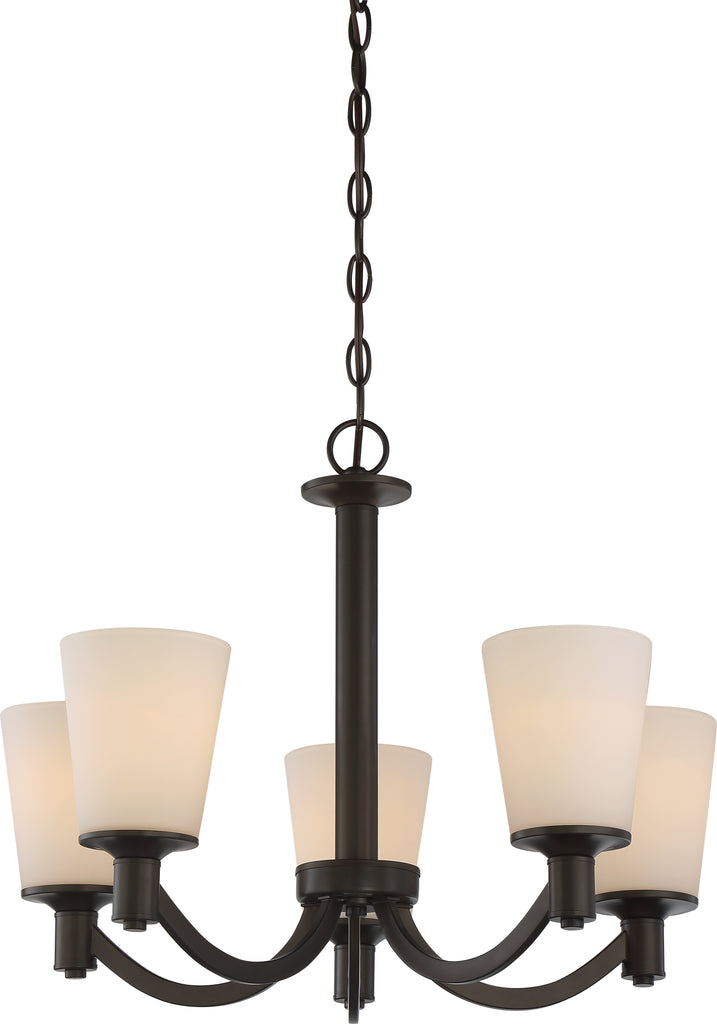 Laguna 5-Light Hanging Mounted Chandelier Light Fixture in Forest Bronze Finish