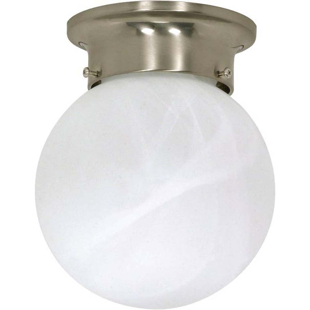 """Nuvo 1-Light 6"""" Ceiling Mount Fixture - Brushed Nickel Finish"""