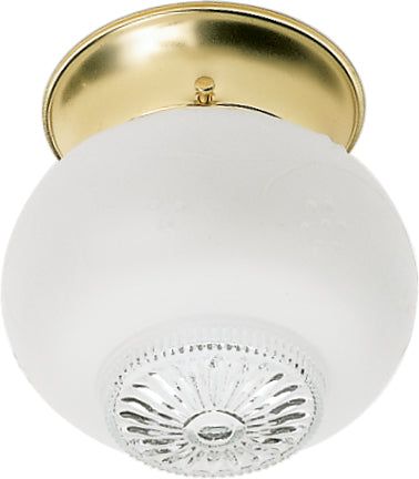 """Nuvo 1-Light 6"""" Ceiling Fixture w/ Clear Bottom SQUAT Ball in Polished Brass"""