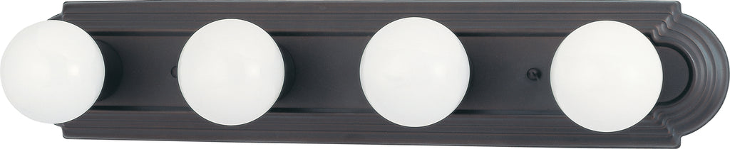 4-Light Wall Mounted Vanity & Wall Light Fixture in Mahogany Bronze Finish