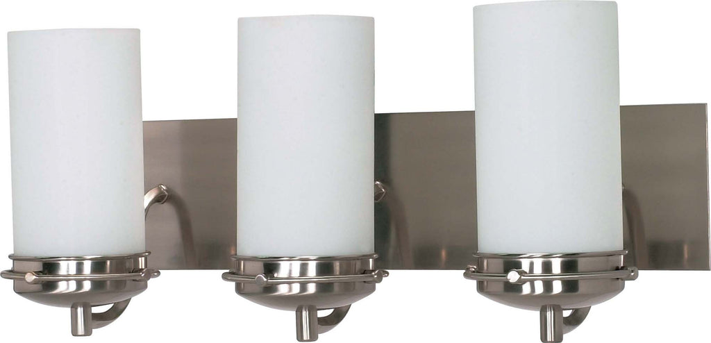 Nuvo Polaris - 3 Light - 21 inch - Vanity - w/ Satin Frosted Glass Shades