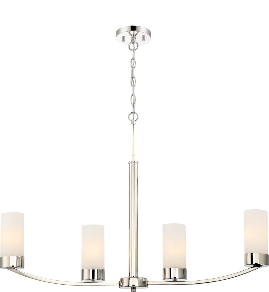 Denver 4-Light IslandPendant Light Fixture in Polished Nickel Finish