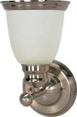 Nuvo Palladium - 1 Light - 6 inch - Vanity - w/ Satin Frosted Glass Shades
