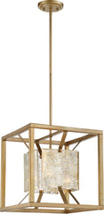 Stanza 1-Light Pendants Mounted Pendant Light Fixture in Antique Gold Finish