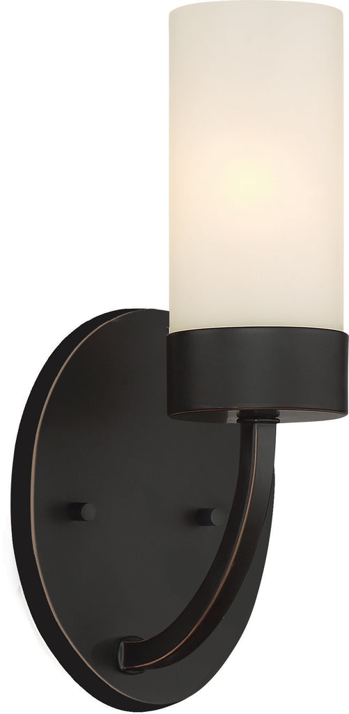 Denver 1-Light Wall Mounted Vanity & Wall Light Fixture in Mahogany Bronze Finish