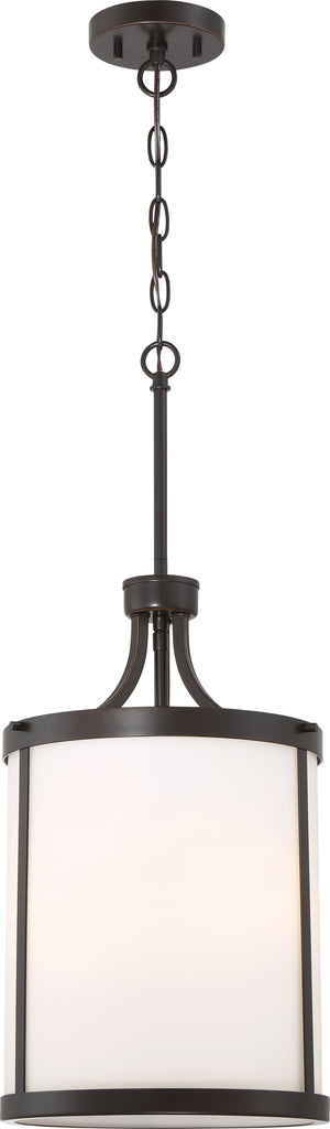 Denver 3-Light Pendants Mounted Pendant Light Fixture in Mahogany Bronze Finish