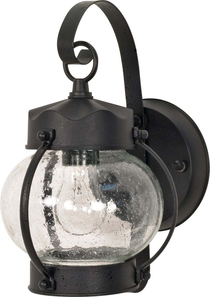 Nuvo 1 Light - 11 inch - Wall Lantern - Onion Lantern w/ Clear Seed Glass