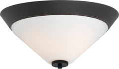 Nome 2-Light Flush Mounted Light Fixture in Mahogany Bronze Finish