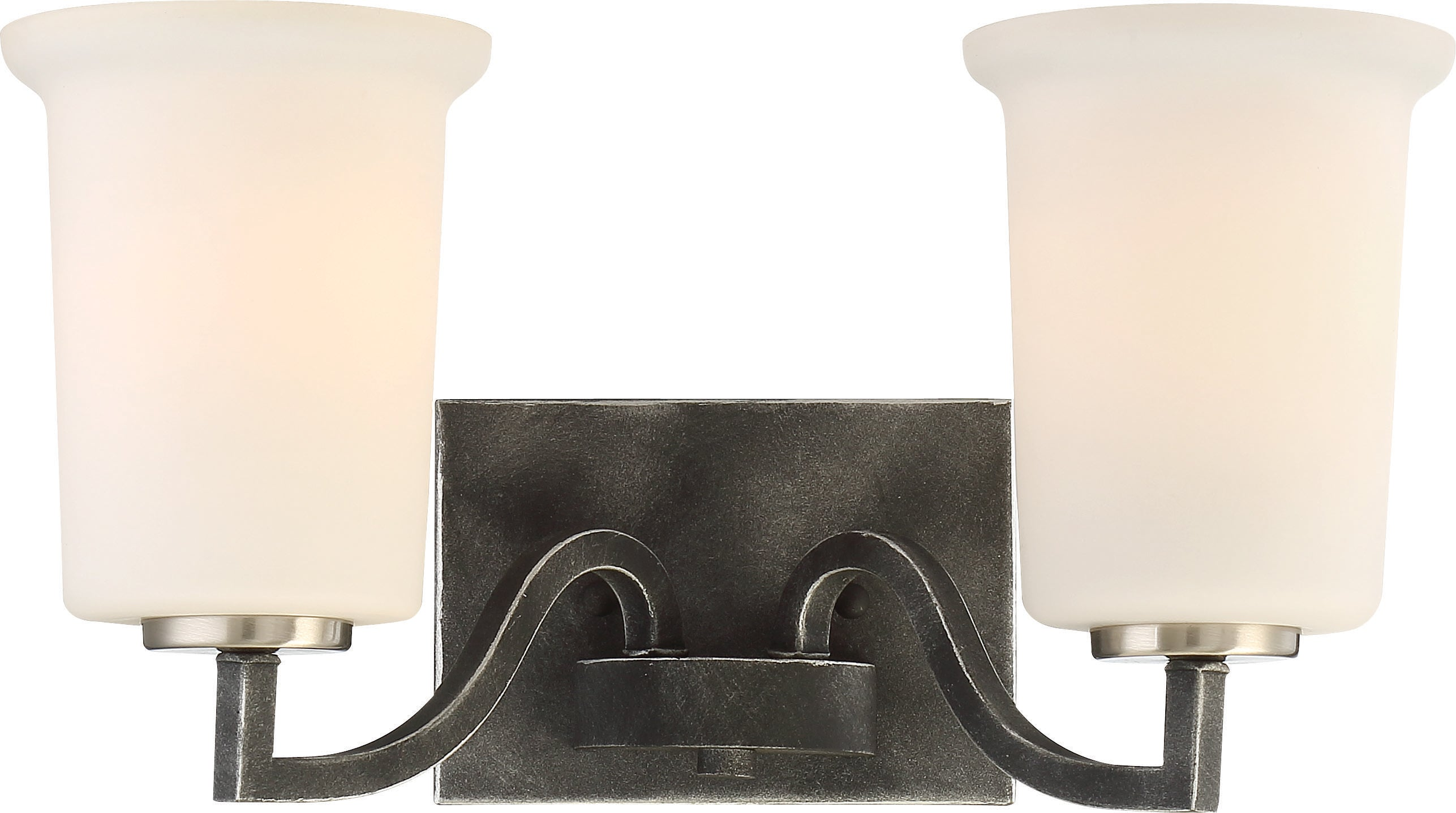 Chester 2-Light Wall Mounted Vanity & Wall Light Fixture in Iron Black Finish