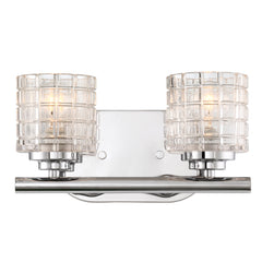 Votive 2-Light Wall Mounted Vanity & Wall Light Fixture in Polished Nickel Finish