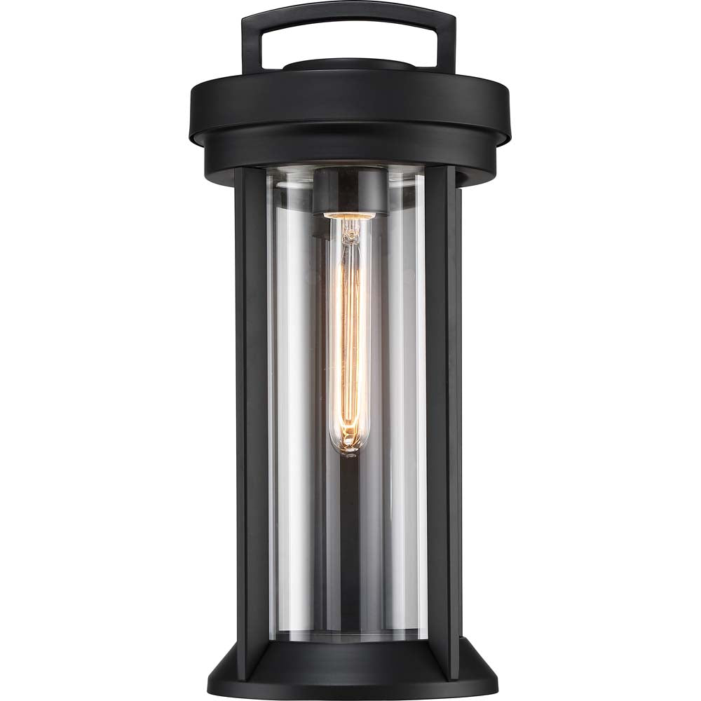 Nuvo Lighting 60w Huron 1-Light Medium Lantern Aged Bronze / Glass Finish
