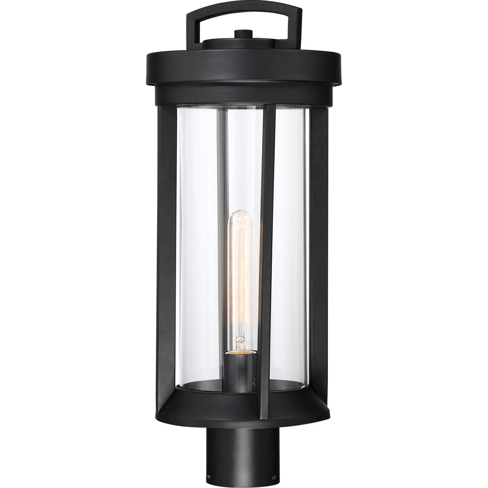 Nuvo Lighting 60w Huron 1-Light Post Lantern Aged Bronze / Glass Finish