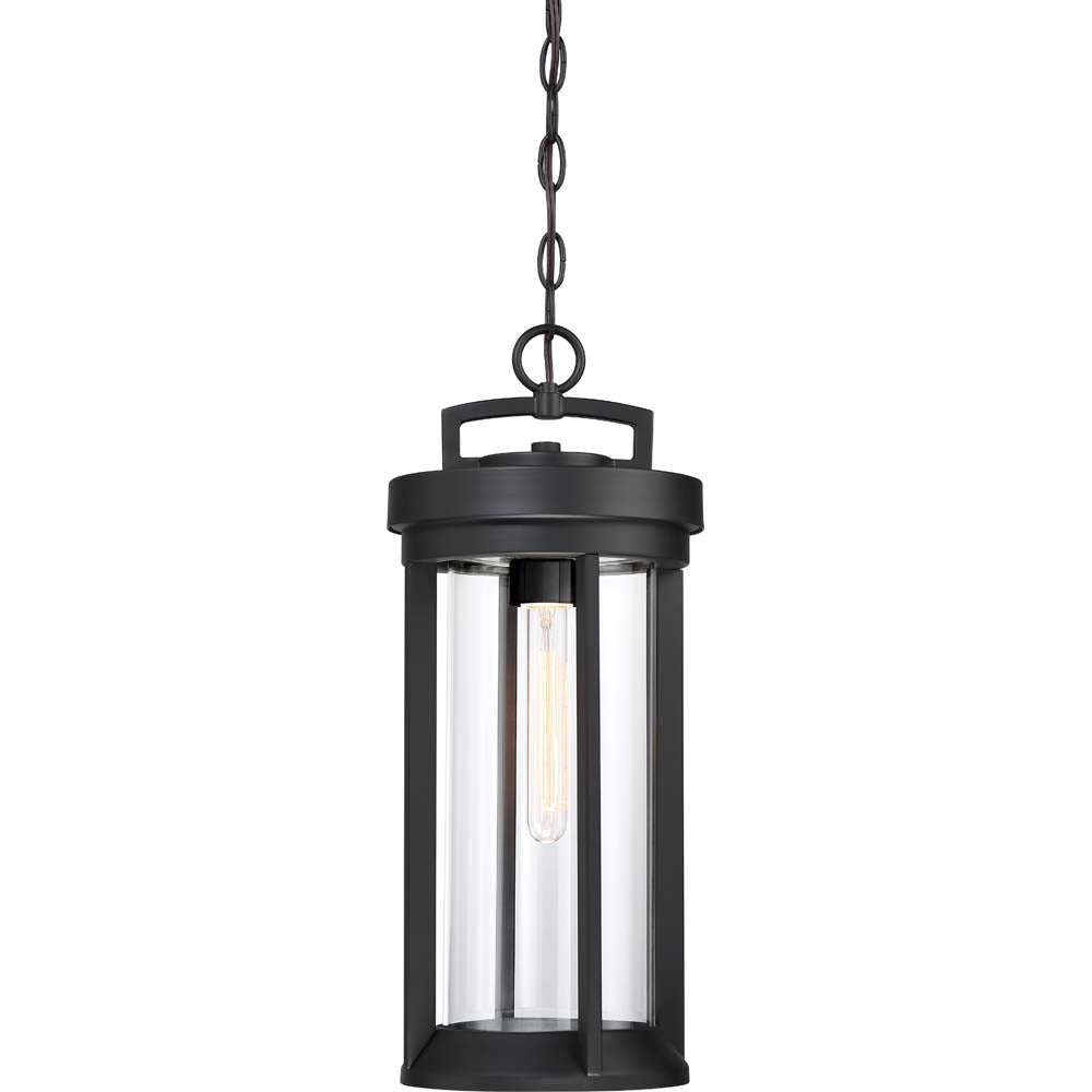 Nuvo Lighting 60w Huron 1-Light Hanging Lantern Aged Bronze / Glass Finish