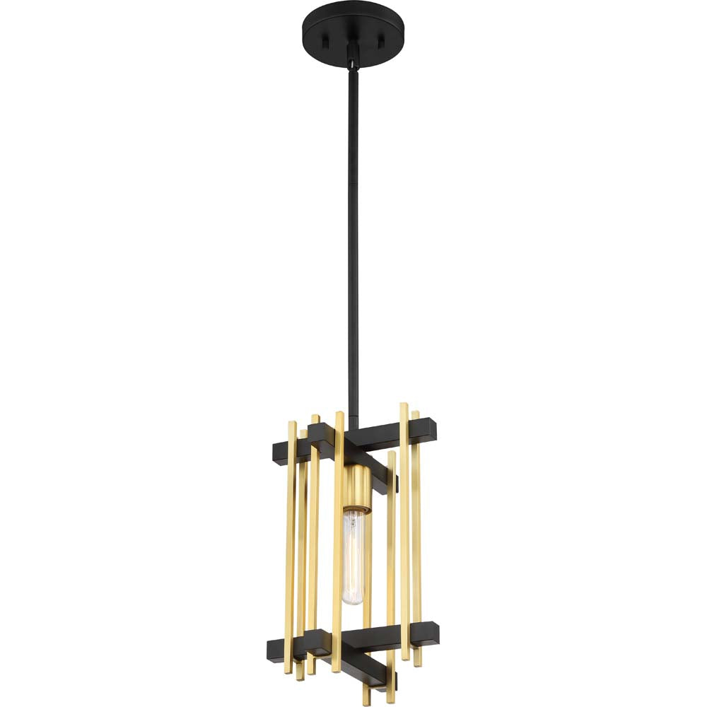 Nuvo Lighting 60w Marion 1-Light Mini Pendant Aged Bronze/Natural Bronze Finish