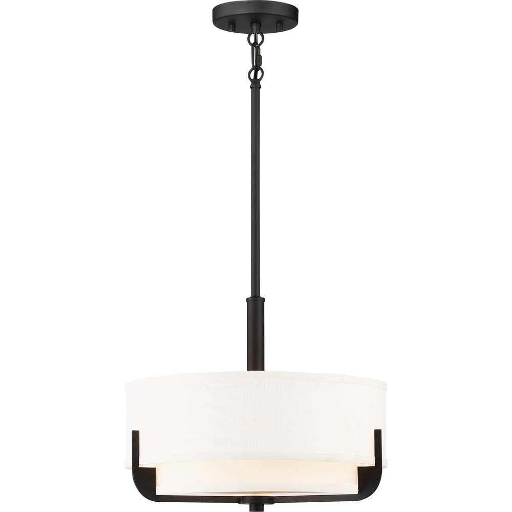 Nuvo Lighting 100w Frankie 3-Light 14 In Pendant Aged Bronze Finish