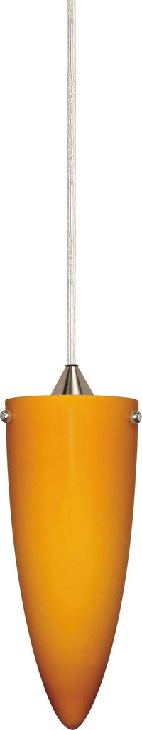 Nuvo 1 Light - 4 inch - Halogen Pendant - Butterscotch Cone